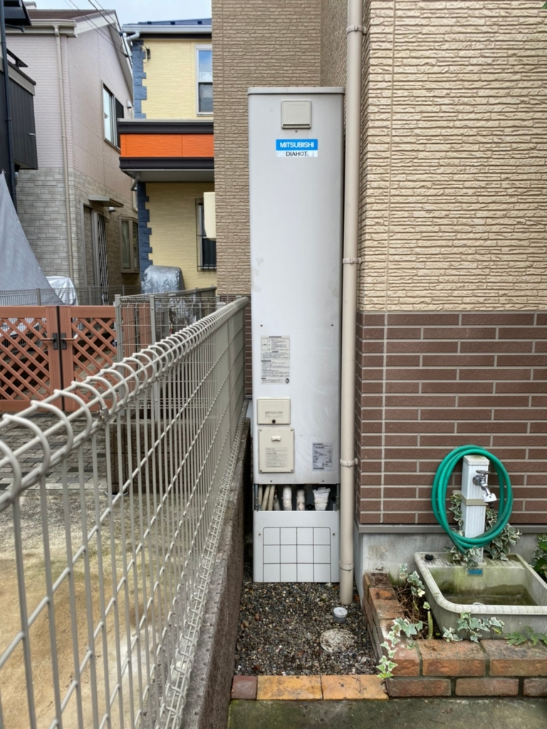 三菱エコキュートSRT-HP43WZ4から三菱エコキュートSRT-S435UZ|エコキュート交換工事|千葉県船橋市海神