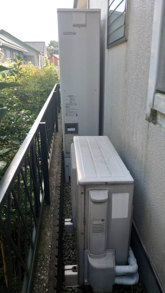 三菱エコキュートSRT-HP37WZ2から三菱エコキュートSRT-S375UZ エコキュート交換工事 神奈川県横浜市泉区緑園