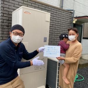 三菱エコキュートSRT-HP37WUX5から日立エコキュートBHP-F37SD|エコキュート交換工事|神奈川県山武郡横芝光町横芝