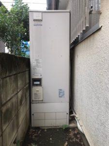 三菱エコキュートSRT-HP37W1から日立エコキュートBHP-F37SU エコキュート交換工事 東京都東大和市芋窪
