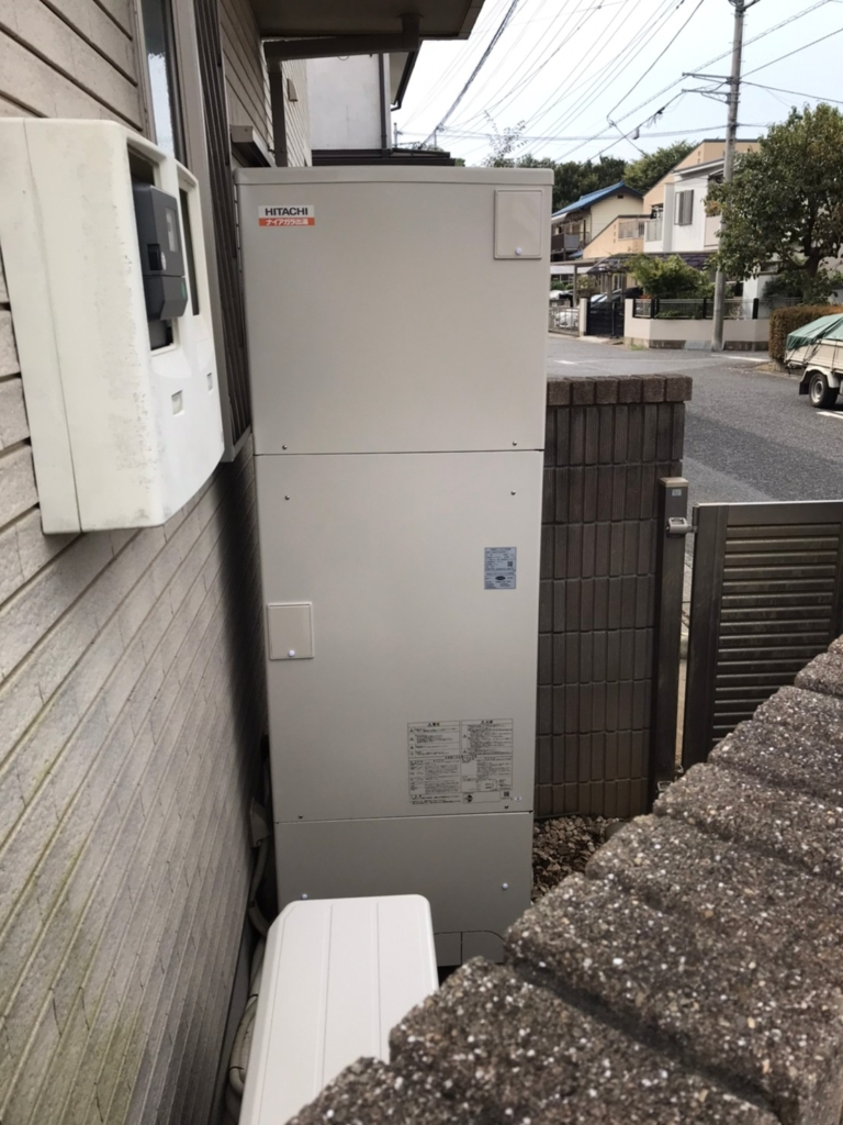 三菱エコキュートSRT-HP55W5から日立エコキュートBHP-F56SD|エコキュート交換工事|埼玉県さいたま市北区奈良町