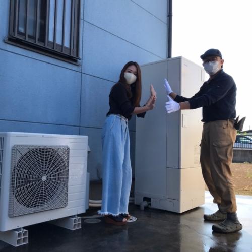 日立電気温水器BEB-4670-BFAWから日立エコキュートBHP-F37SU|電気温水器からエコキュート交換工事|埼玉県久喜市江面