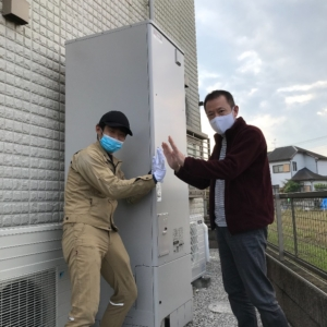三菱エコキュートSRT-HP463WFSからMITSUBISHIエコキュートSRT-S465U|エコキュート交換工事|埼玉県熊谷市玉井