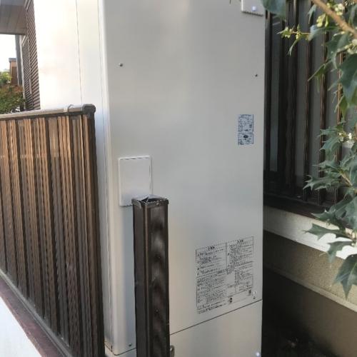 三菱エコキュートSRT-HP37W1から日立エコキュートBHP-F37SU|エコキュート交換工事|神奈川県横浜市旭区鶴ヶ峰