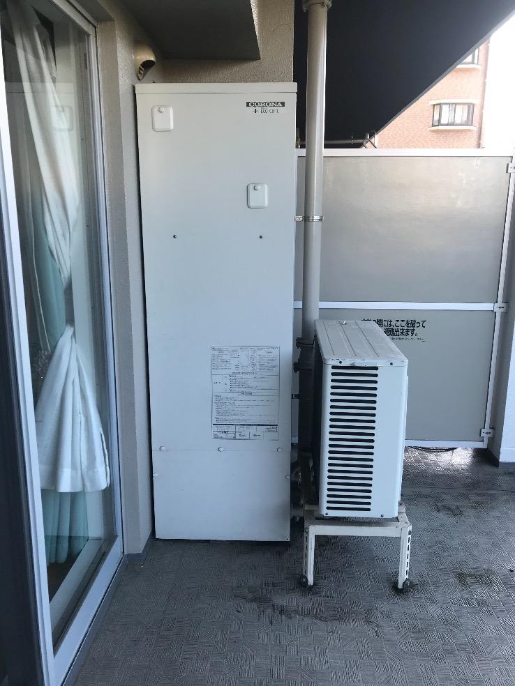 コロナエコキュートCHP-H3014Aから日立エコキュートBHP-F37SD|エコキュート交換工事|神奈川県相模原市中央区東淵野辺|マンション|ルネ古淵