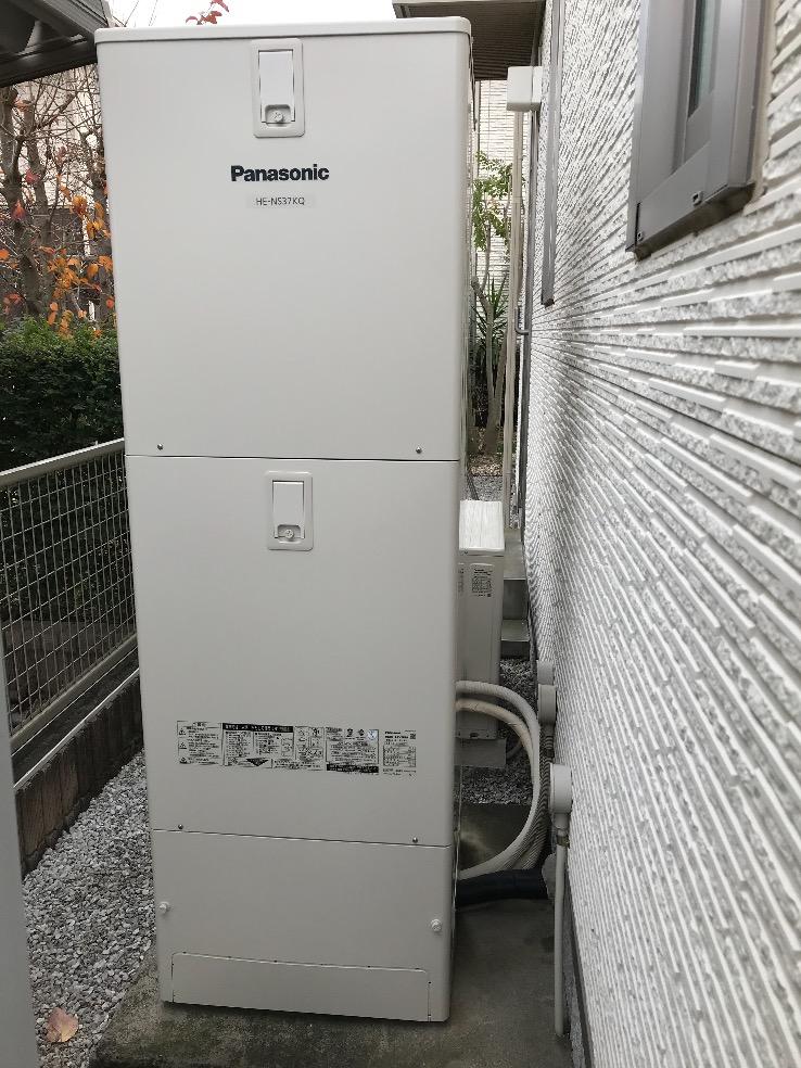 三菱電気温水器SRT-3768WFU-BLからパナソニックエコキュートHE-NS37KQS|エコキュート交換工事|埼玉県行田市棚田町|積水ハウス