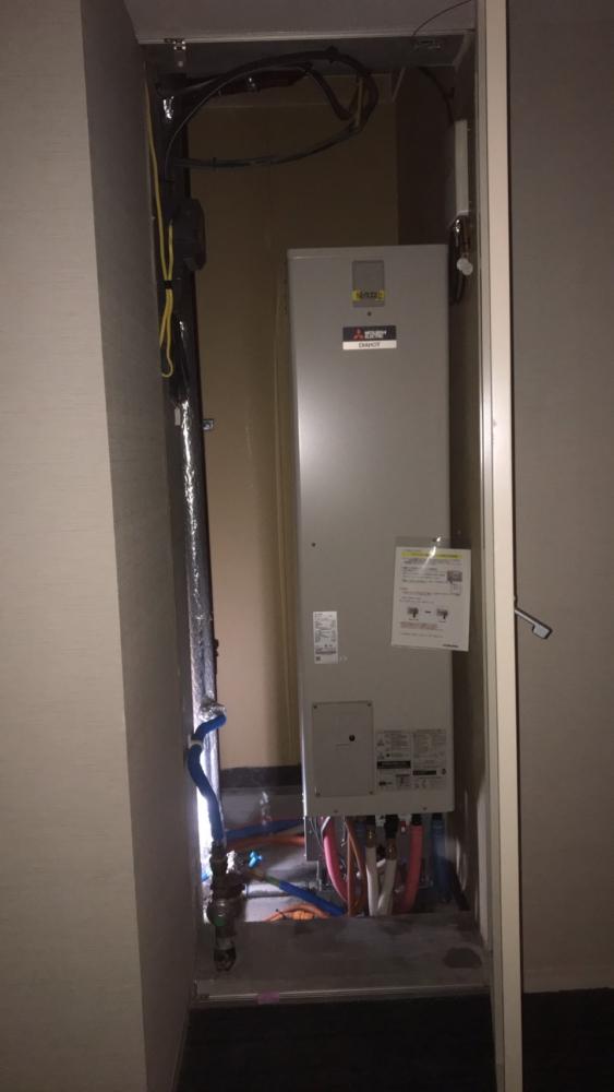 コロナエコキュートCHP-H3024A2から三菱エコキュートSRT-S375UZ|エコキュート交換工事|神奈川県川崎市中原区新丸子東|マンション|パークシティ武蔵小杉ミッドスカイタワー