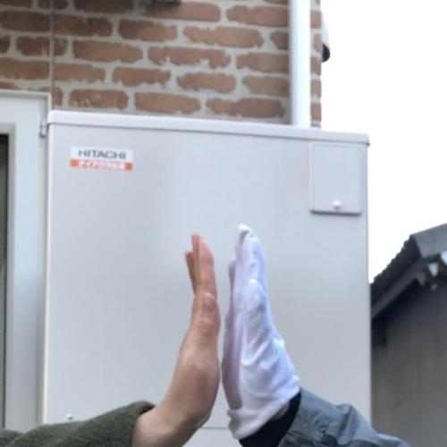 東芝電気温水器HPL-TFB461RAUから日立エコキュートBHP-F46SD|電気温水器からエコキュート交換工事|埼玉県川越市仙波町|奥山建設