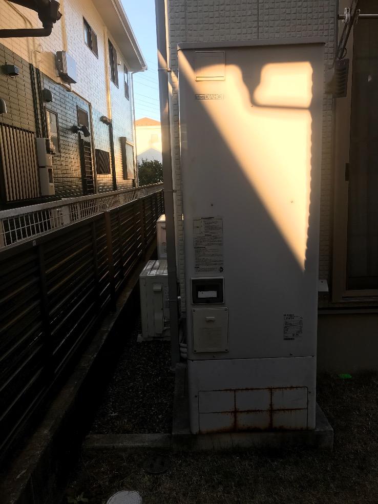 三菱エコキュートSRT-HP37W1から三菱エコキュートSRT-S375 エコキュート交換工事 千葉県習志野市鷺沼台 