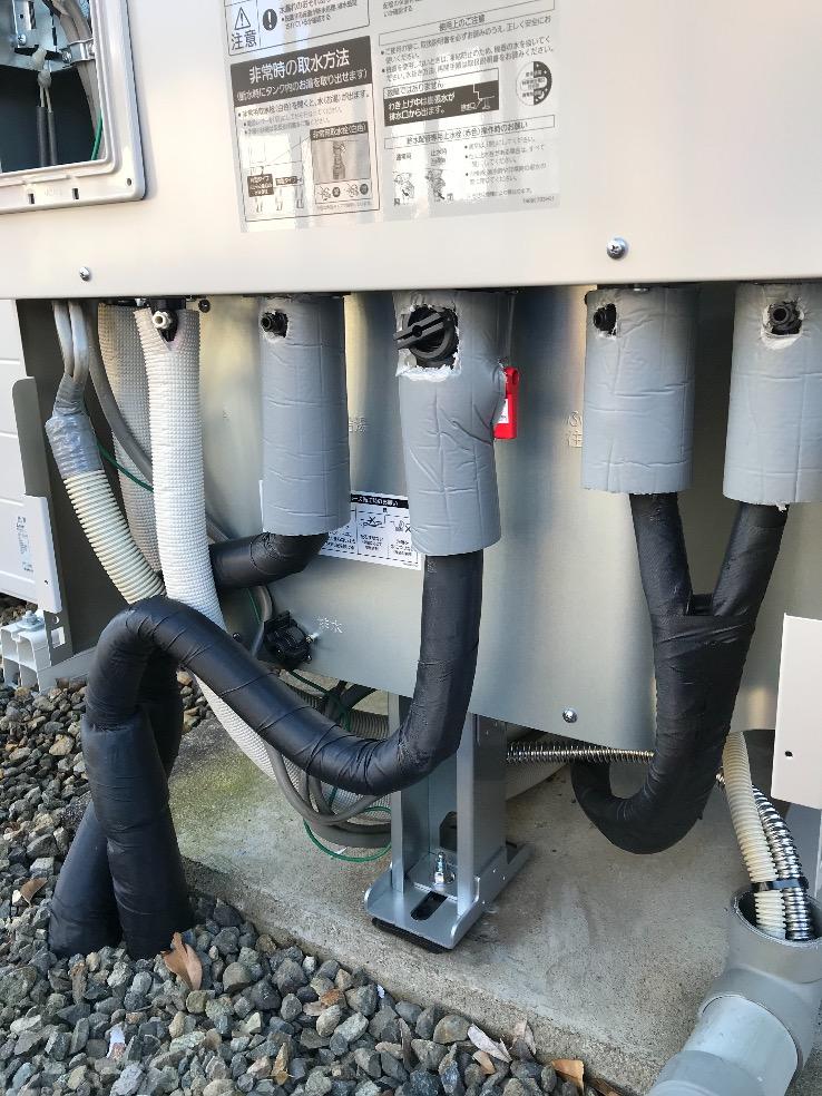 コロナエコキュートCHP-H3715Aから三菱エコキュートSRT-W375|エコキュート交換工事|茨城県水戸市藤が原|