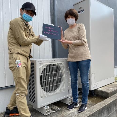 コロナエコキュートCHP-H3022Aから三菱エコキュートSRT-W375Z|エコキュート交換工事|神奈川県秦野市曽屋|