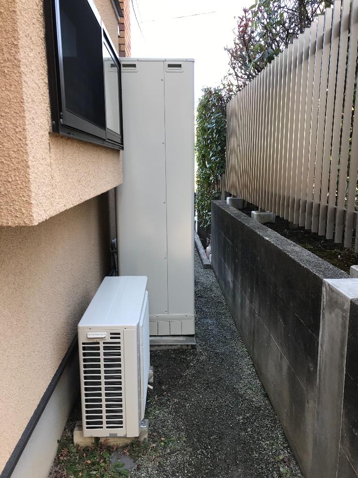 日立エコキュートBHP-TA460からダイキンエコキュートEQ46VFV|エコキュート交換工事|神奈川県横浜市青葉区すすき野|
