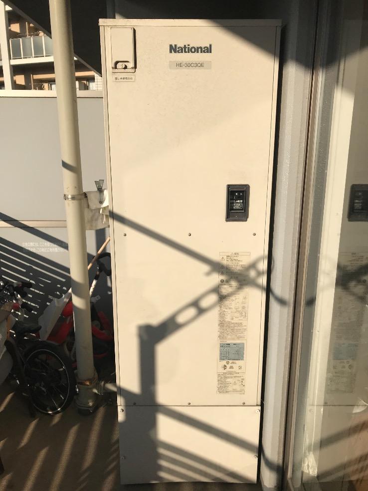 ナショナルエコキュートHE-30C3QEからダイキンエコキュートEQ37VFVE エコキュート交換工事 千葉市美浜区浜田 マンション コロンブスシティ