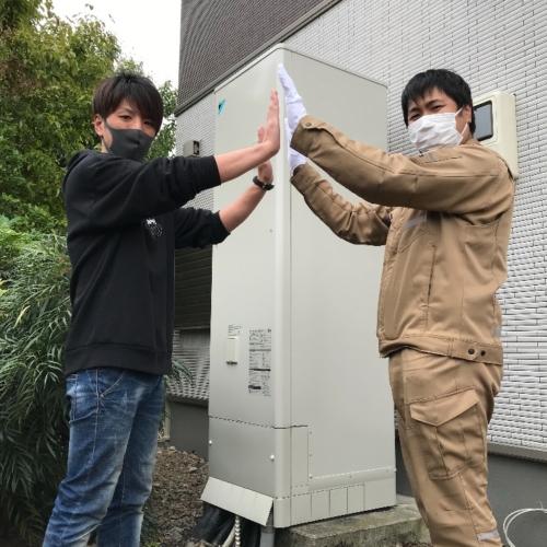 ダイキンエコキュートEQN46NFVからダイキンエコキュートEQ46VFV|エコキュート交換工事|栃木県栃木市今泉町|