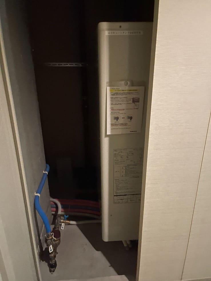 コロナエコキュートCHP-H3024A2からコロナエコキュートCHP-E372AY3|エコキュート交換工事|神奈川県川崎市中原区新丸子東|マンション|パークシティ武蔵小杉|
