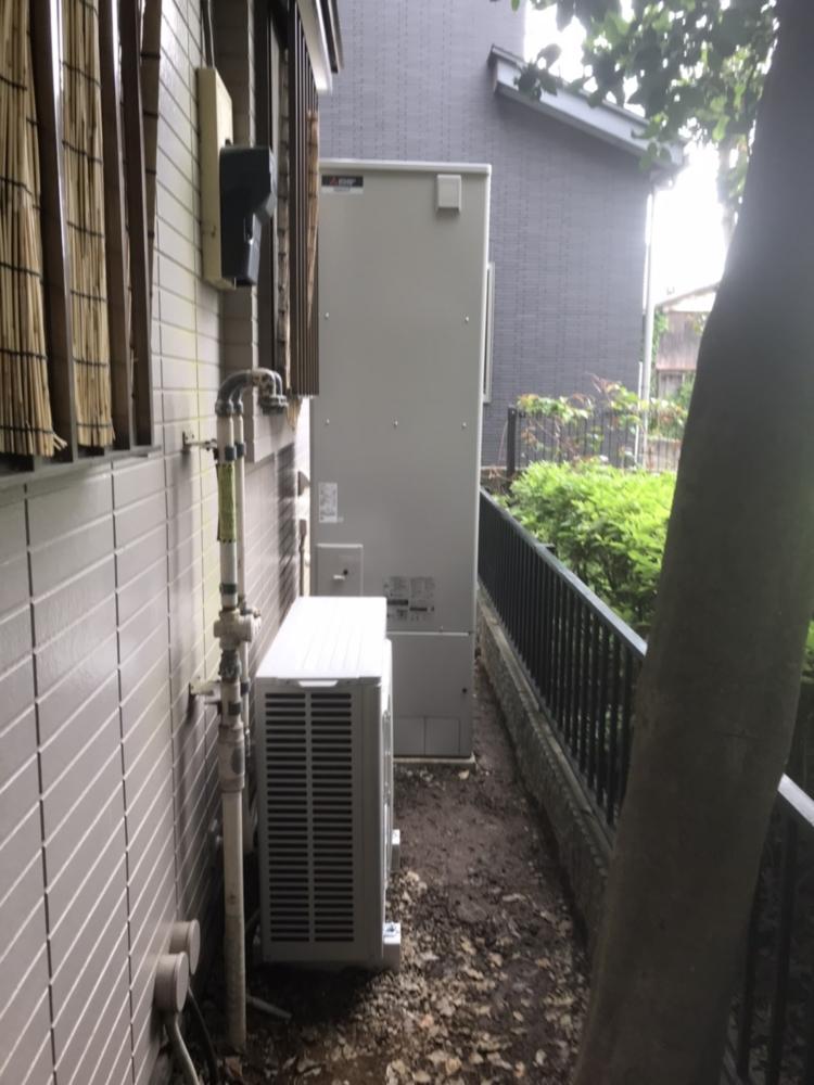 日立エコキュートBHP-F46EUから三菱エコキュートSRT-S465|エコキュート交換工事|東京都東久留米市前沢|
