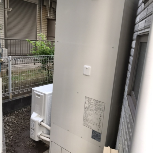 コロナエコキュートCHP-H4614ATからコロナエコキュートCHP-46ATX3|エコキュート交換工事|神奈川県横浜市青葉区荏田町|