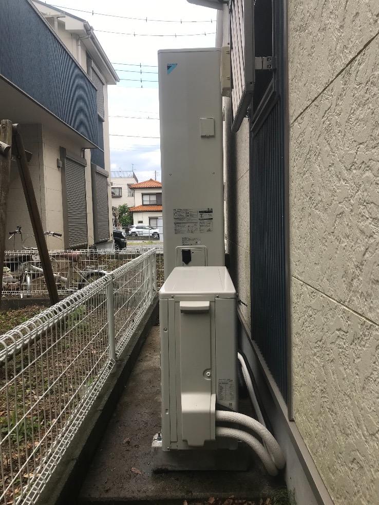 ナショナルエコキュートHE-37W3QからダイキンエコキュートEQ46VFTV|エコキュート交換工事|埼玉県越谷市相模町|