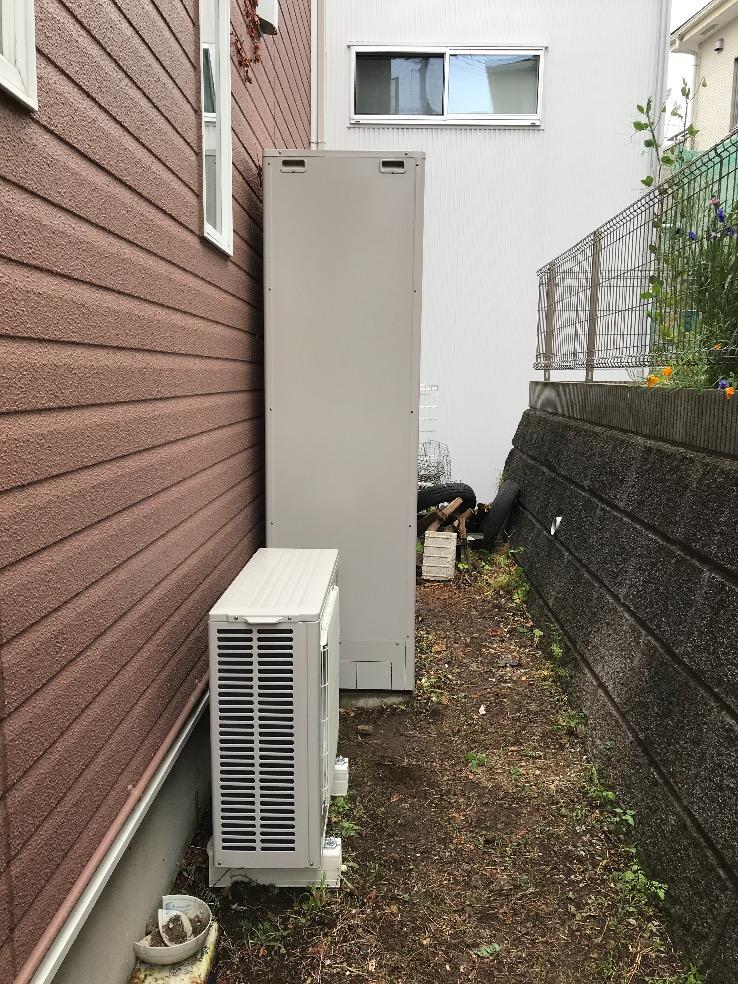 三菱エコキュートSRT-HPT37WX5から三菱エコキュートSRT-S465U|エコキュート交換工事|神奈川県厚木市温水西