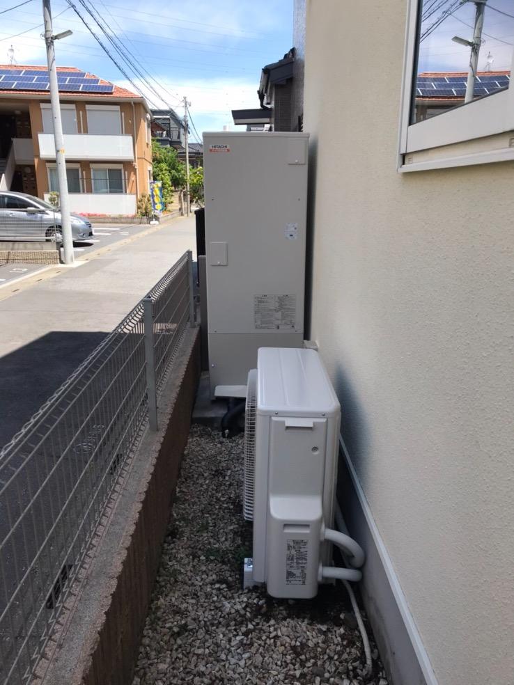 コロナエコキュートCHP-H3715Aから日立エコキュートBHP-F37SD|エコキュート交換工事|埼玉県川口市芝西|