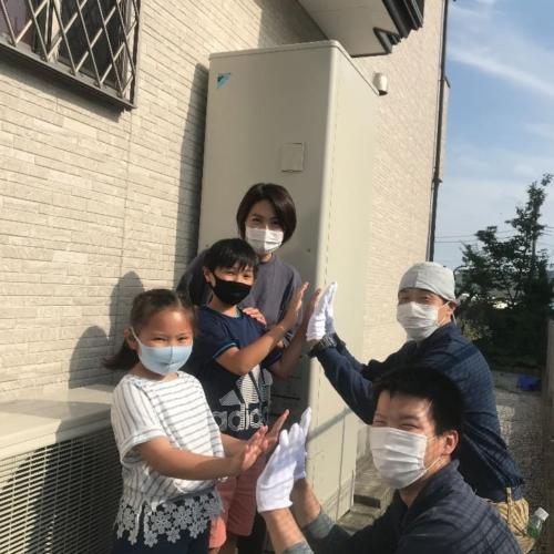 三菱エコキュートSRT-HP37WX5からダイキンエコキュートEQ46VFV|エコキュート交換工事|神奈川県相模原市緑区久保沢